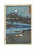 Fulling Cloth in Settsu Province, November 1857 Giclee Print by Utagawa Hiroshige