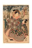 Tsuruya Uchi Kashiku Giclee Print by Utagawa Kuniyasu