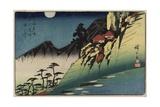 Moon Reflections on Rice Paddies of Sarashina, Shinshu Province, C. 1832-1839 Giclee Print by Utagawa Hiroshige