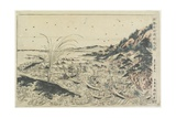 Perspective Print:Whale Catching at Kumano Sea-Shoreu, Late 18th Century Giclee Print by Utagawa Toyoharu
