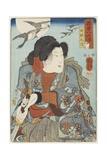 Inuzaka Keno, C. 1852 Giclee Print by Utagawa Kuniyoshi