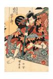 Shichidaime Ichikawa Danjuro No Shimizu No Kanja Yoshitaka Giclee Print by Utagawa Kuniyasu
