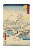 No.13 Mount Fuji Seen over Mount Ashigara, Numazu, July 1855 Giclee Print by Utagawa Hiroshige
