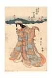 Iwai Shijyaku No Kiku No Mae Giclee Print by Utagawa Kuniyasu