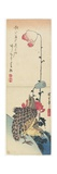 Quail and Poppies, 1830-1858 Reproduction procédé giclée par Utagawa Hiroshige