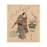 Onoe Kikugoro to Umebachi Giclee Print by Utagawa Kuniyasu