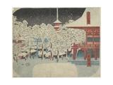 Kinryu Zan Temple at Asakusa, July 1852 Giclee Print by Utagawa Hiroshige