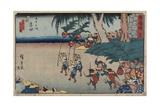 No.35 Yoshida, 1847-1852 Giclee Print by Utagawa Hiroshige
