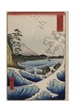The Sea Off Satta in Suruga Province', from the Series 'The Thirty-Six Views of Mt. Fuji' Giclée-trykk av Utagawa Hiroshige