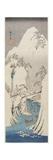Kiso Gorge in Snow, C. 1840-1842 Giclee Print by Utagawa Hiroshige