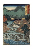 Hot Springs at Shuzenji, Izu Province, August 1853 Giclee Print by Utagawa Hiroshige