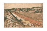 Kyoto Sanjusangendo No Zu Giclee Print by Utagawa Toyoharu