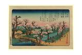 Koganeibashi No Sekisho Giclee Print by Utagawa Hiroshige