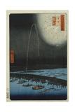 Fireworks at Ryogoku', from the Series, 'One Hundred Famous Views of Edo' Giclee Print by Utagawa Hiroshige