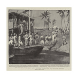 The Evacuation of the Atbara Camp, the Sirdar Watching the Ninth Soudanese Embarking Giclee Print by Walter Stanley Paget