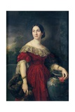 Mrs Aaron Vail (Emilie Salles) 1842 Giclee Print by Vicente Lopez y Portana