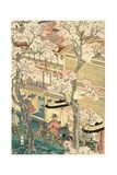 True View of the Pleasure Houses of Miyosaki at the New Port, Yokohama, Kanagawa, 1860 Giclee Print by Utagawa Sadahide