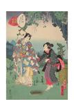 Sawarabi, No. 48 in the Series, 'Murasaki Shikibu Genji Cards', 1857 Giclee Print by Utagawa Kunisada II