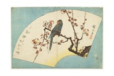 Parrot on a Flowering Plum, Mid 19th Century Giclee Print by Utagawa Hiroshige