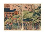 Ueno Toeizan Hanazakari No Zu Giclee Print by Utagawa Kuniyasu