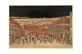 Ukie Wakoku No Keiseki Shin-Yoshiwara Nakanocho No Zu Giclee Print by Utagawa Toyoharu