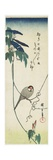 Java Sparrow and Morning Glories, 1834-1839 Giclee Print by Utagawa Hiroshige