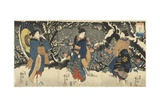 Plum Blossoms in the Evening Snow, 1847-1852 Giclee Print by Utagawa Kuniyoshi