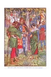 The King Joins the Hands of Robin Hood and Maid Marian, C.1920 Giclee Print by Walter Crane