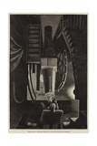 Night Work at Greenwich Observatory, the Great Equatorial Telescope Giclee Print by William Bazett Murray