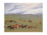 Herding Horses, Inner Mongolia Giclee Print by Vincent Haddelsey