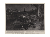 A Novel Use for Dogs in War, Searching for Wounded at Night Giclee Print by Walter Stanley Paget