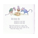 Three Hungry Mice, Three Hungry Mice, Searched for Some Food Giclee Print by Walton Corbould