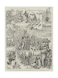 Scenes in the Procession at the Mohurrum Festival, Hyderabad, India Giclee Print by V.a. Poirson
