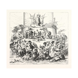 Salon of 1855. Prussian School. the Tower of Babel, Giclee Print by Wilhelm Von Kaulbach
