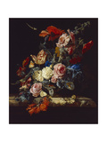 A Vase of Flowers, 1663 Giclee Print by Willem van Aelst