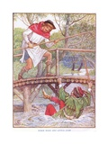 Robin Hood and Little John, C.1920 Giclee Print by Walter Crane