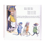 Three Bold Mice, Three Bold Mice, Come to an Inn Giclee Print by Walton Corbould