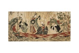 Actors as the Seven Gods of Fortune on a Treasure Ship, 1800-05 Giclee Print by Utagawa Toyokuni