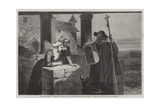 Le Reliquaire, from the Exhibition of the Society of Painters in Water Colours Giclee Print by Walter Goodall