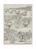 Pulla Fishing on the Indus Giclee Print by V.a. Poirson