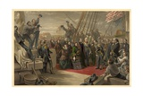 Queen Victoria Visiting HMS Resolute, 16th December, 1856, Published 1859 Giclee Print by William 'Crimea' Simpson