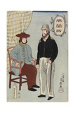 Frenchmen, January 1861 Giclee Print by Utagawa Yoshiiku