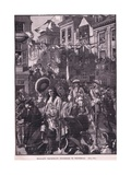 Williams Triumphant Procession to Whitehall Ad 1697 Giclee Print by Walter Stanley Paget
