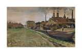 The Iron Mill in the Hague, 1882 (Gouache, W/C, Wash, Pen and India Ink, Pencil on Paper) Giclee Print by Vincent van Gogh