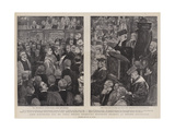 Lord Kitchener and Mr Cecil Rhodes Receiving Honorary Degrees at Oxford University Giclee Print by Walter Duncan