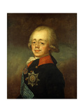 Portrait of the Grand Duke Paul Petrovich (Future Tsar Paul I) Giclee Print by Vladimir Lukich Borovikovsky