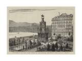 Monument to the Late Duke of Brunswick, Recently Erected at Geneva Giclee Print by  Warry