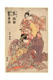 Arashi Hinasuke No Minamoto No Raiko to Iwai Kumesaburo No Yosoihime Giclee Print by Utagawa Toyokuni