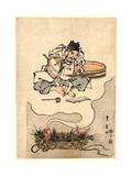 Tai No Yume Ebisu No Soroban Giclee Print by Utagawa Toyohiro