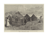 With the Afghan Boundary Commission, Turkomans Erecting a Kibitka in the Camp at Bala Murghab Giclee Print by William 'Crimea' Simpson